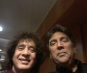 With Ustad Zakir Hussain Khan