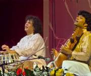 Ustad Zakir Hussain and Dilshad Khan in concert