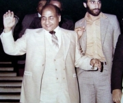 with the great Mohammed Rafi.( 1980. London)