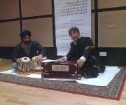 Ustad Tersem Singh and Kaleem Sheikh at Resident studios
