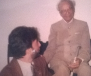 With Mr Naushad Ali of Indian cinema ( 1997)