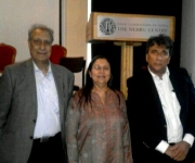 with eminent Mr Ayub Aulia and Honoured Sangeeta Kohli Gupta, daughter of Mr Madan Mohan
