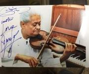 good wishes from Shri Pyarelal Ramprasad Sharma. Part of a historic music team Laxmikant- Pyarelal