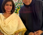 With the international singer Ms Shobhaa Joshi who concerted  with Mr Talat Mahmood