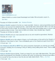 Acknowldgement from Ume Kulsoom Sharif of NDTV