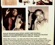 Kaleem's recital at Nehru centre in memory of Ustad Sultan Khan